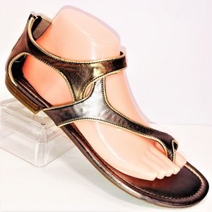Moda Spana 9.5 M Gold & Bronze Sandals -Color FLAW